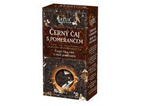 GREŠÍK Čaje 4 světadílů Černý čaj s pomerančem č.č. 70 g