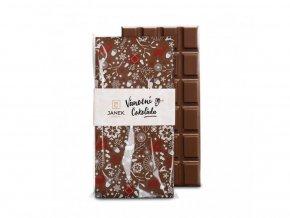 263 tabulka mlecne cokolady s jedlym vanocnim potiskem cokoladovna janek