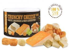 Křupavý sýr White Cheddar Red Leicester