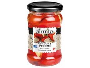 Almito Červené pikantní papriky plněné sýrem 270 g