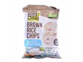 40522 Rýžové chipsy mořská sůl pepř 60g