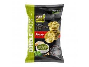 40608 Velké rýžové chipsy pesto 120g