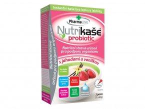 11172 probiotic nutrikase s jahodami a vanilkou 3x60g mogador