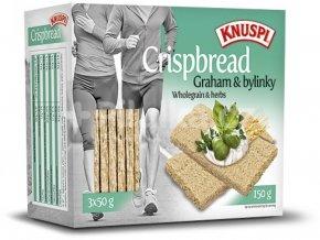 Extrudo Knuspi křehký chléb graham s bylinkami 150 g