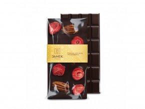 197 1 tabulka horke cokolady 64 procent s jahodami a pekanovymi orechy cokoladovna janek jpg