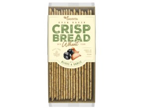 CRISP BREAD Wheat OLIVES &GARLIC