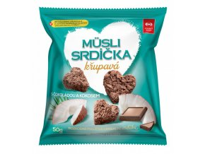 Semix Musli srdíčka křup. kokos,čoko-sáček 50g