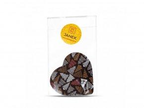 50 1 horke cokoladove srdciko 64 procent s vanocnim potiskem cokoladovna janek jpg