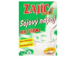 Zajíc Sojový nápoj Natural krabička 400g