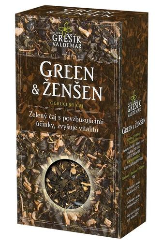 GREŠÍK Čaje 4 světadílů Green & Ženšen z.č. 70 g