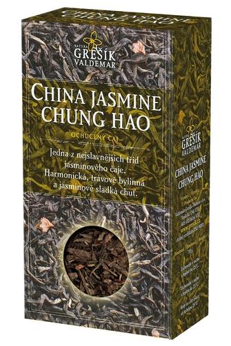 GREŠÍK Čaje 4 světadílů China Jasmine Chung Hao z.č. 70 g