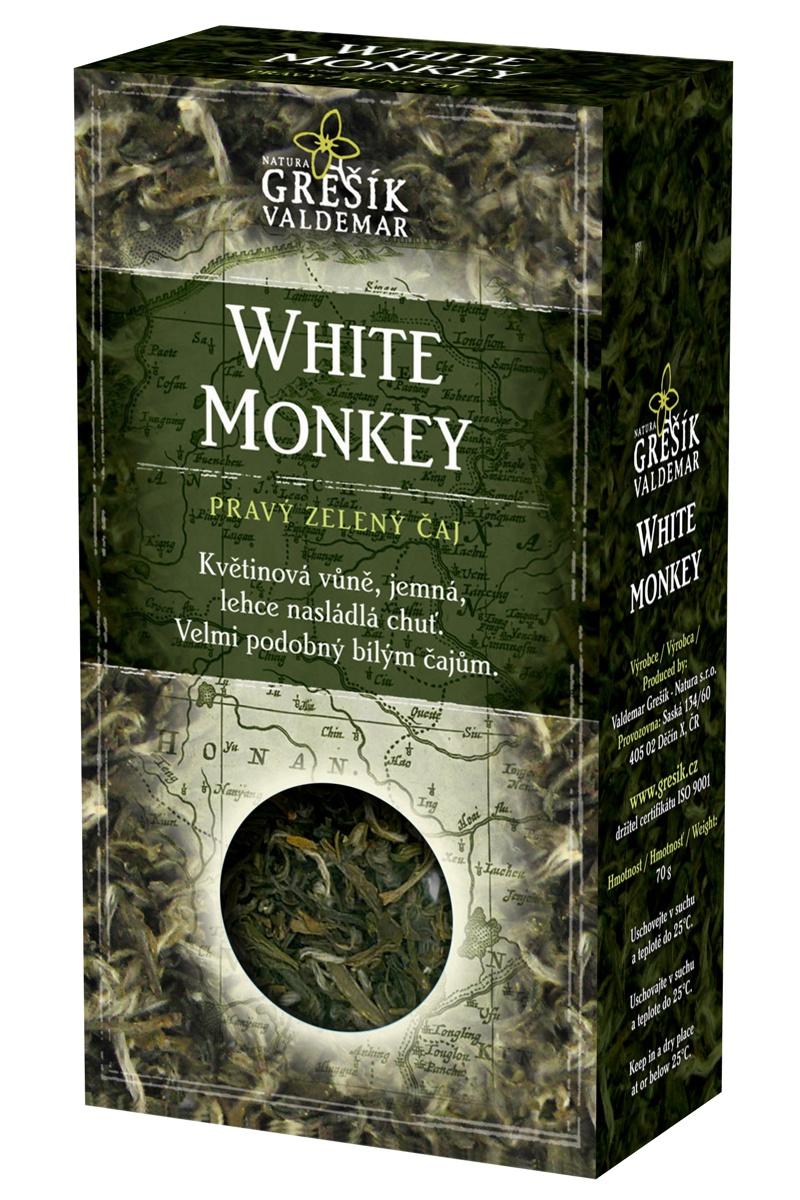 GREŠÍK Čaje 4 světadílů White Monkey z.č. 50 g