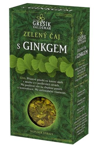 GREŠÍK Čaje 4 světadílů Zel. čaj s ginkgem 70 g