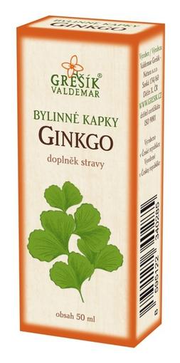 Grešík Bylinné kapky Ginkgo kapky 50 ml