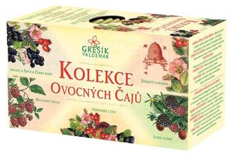 GREŠÍK Kolekce Ovocných čajů 5x4ks