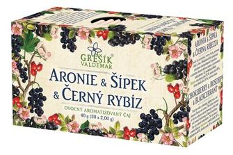 GREŠÍK Aronie & Šípek & Černý rybíz Ovocný čaj 20 n.s.