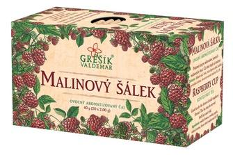 GREŠÍK Malinový šálek 20 n.s. Ovocný čaj