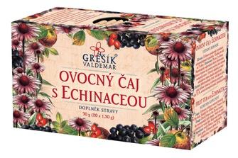 GREŠÍK Ovocný čaj s echinaceou 20 n.s. Ovocný čaj