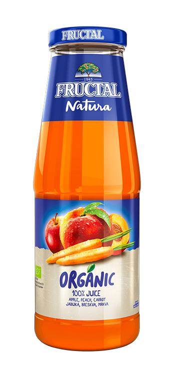 Levně Fructal Natura jablko, broskev, mrkev 0,7 l
