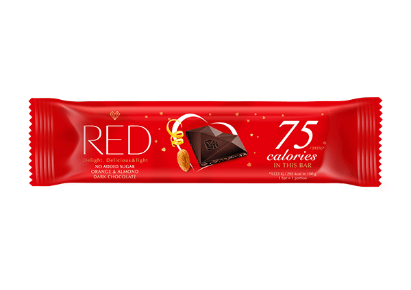 Levně Royal Jerky s.r.o. ROYAL RED Reduced calories Dark chocolate Orange and Almond 26 g