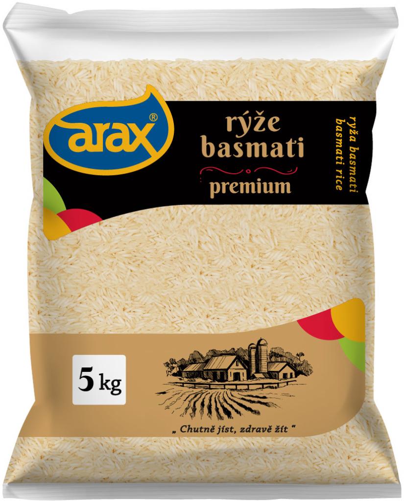 ARAX Rýže Basmati bílá 5 kg