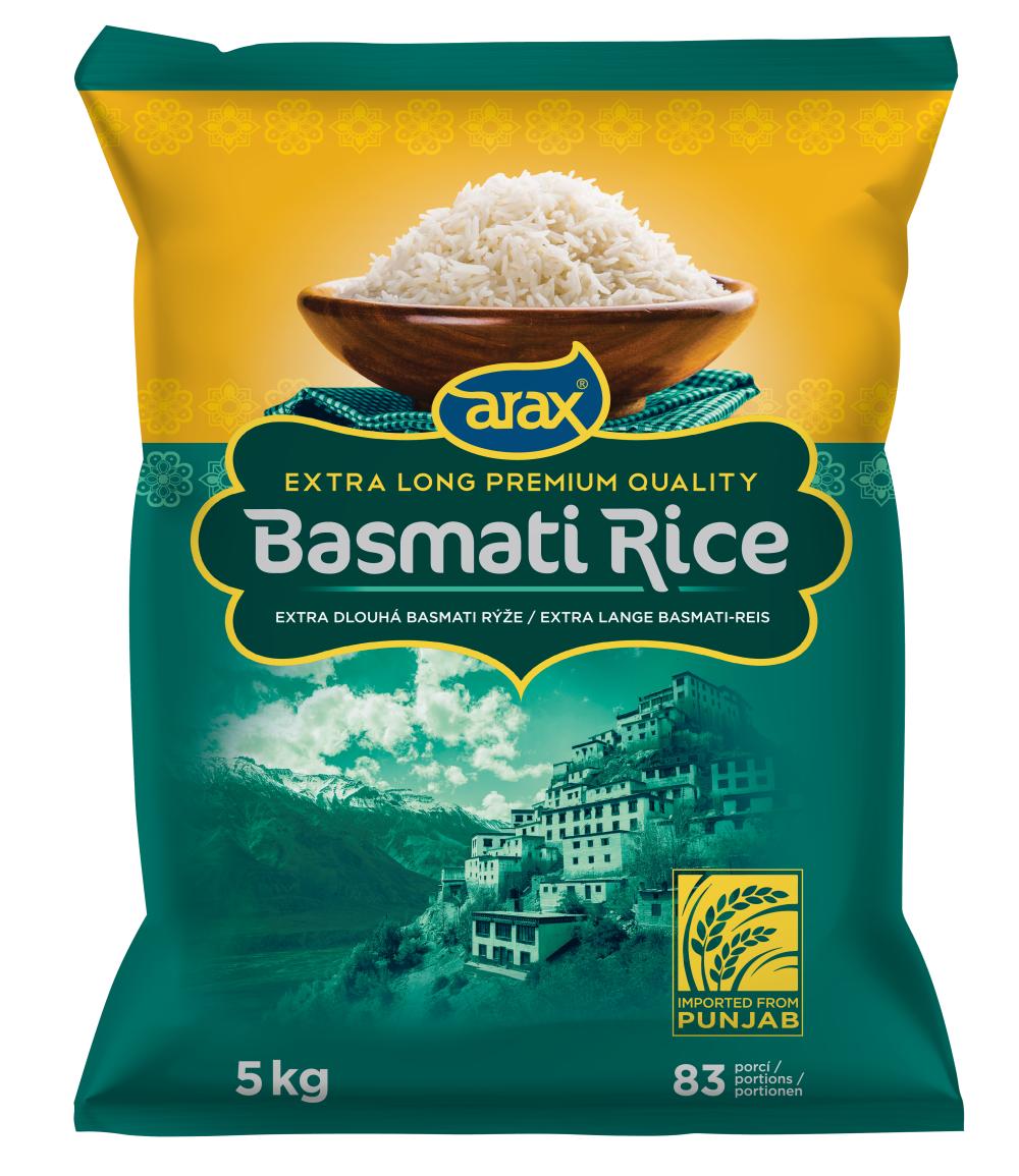 ARAX Rýže Basmati Extra Long Premium 5 kg