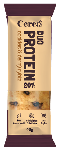 CereaBar Cerea DUO PROTEIN Cookies & Černý rybíz 40 g