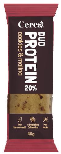 CereaBar Cerea DUO PROTEIN Cookies & Malina 40 g