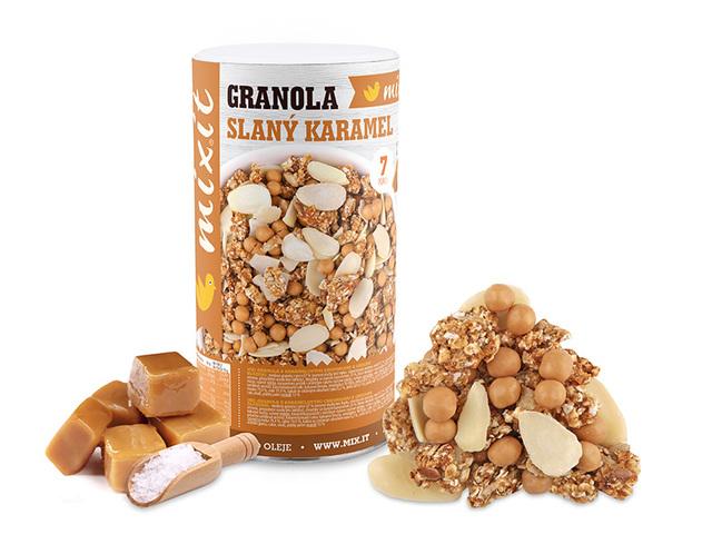MIXIT Granola z pece - Slaný karamel 550 g