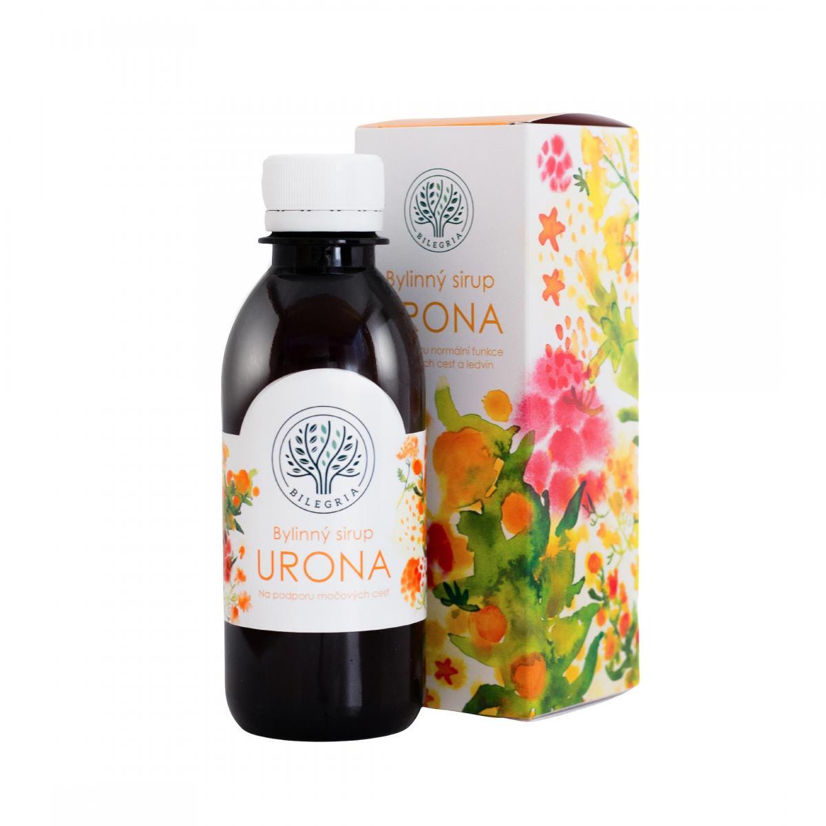 BILEGRIA s.r.o. BILEGRIA URONA - bylinný sirup 200 ml