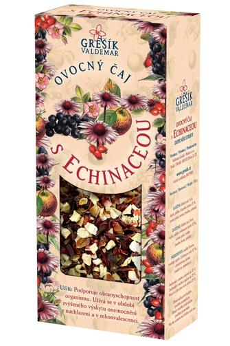 GREŠÍK Ovocný čaj s echinaceou Ovocný čaj krab. 100 g