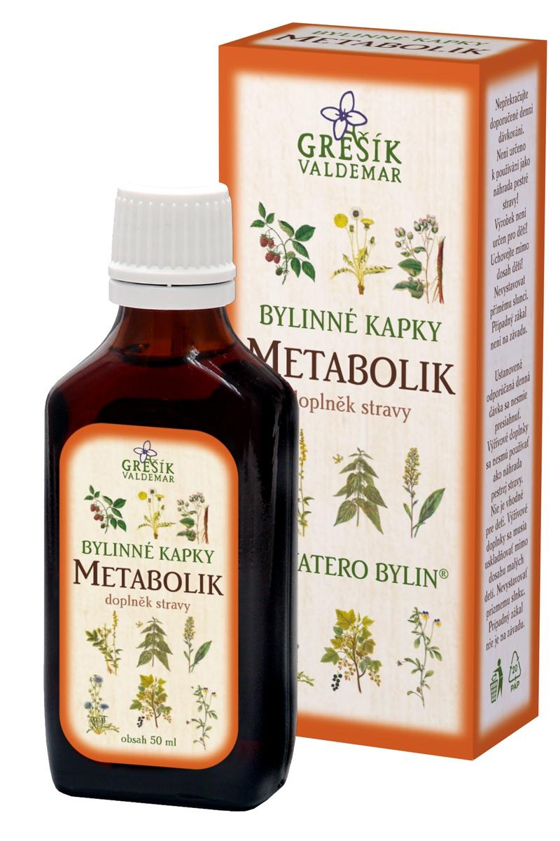 GREŠÍK Devatero bylin kapky Metabolik kapky 50 ml