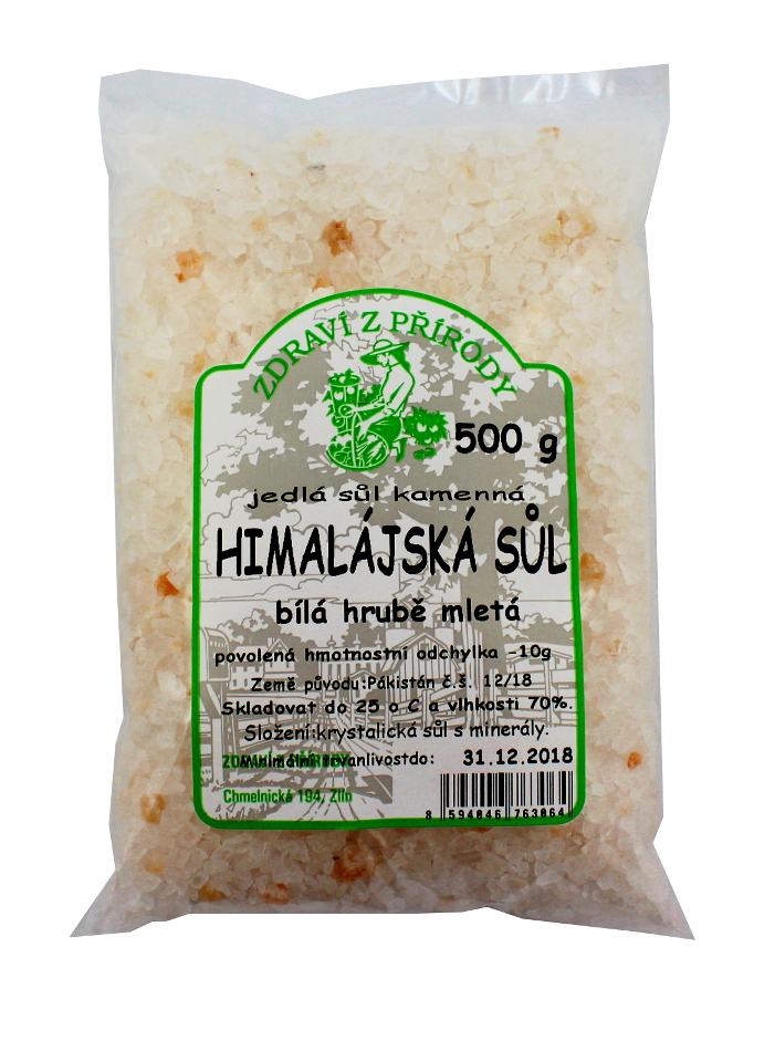 Zdraví z přírody Himalájská sůl bílá hrubá 500g