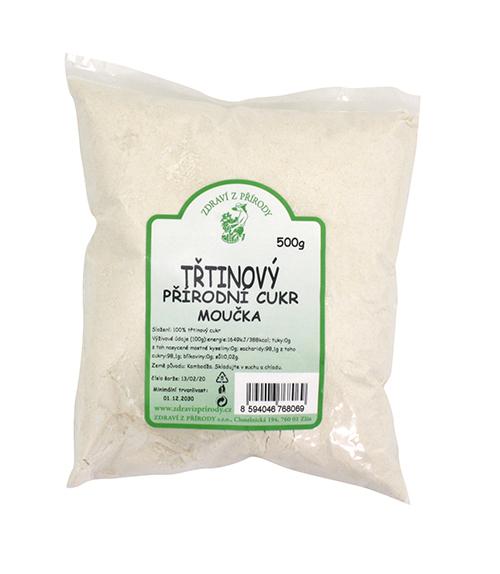 Zdraví z přírody Třtinový cukr moučka 500g