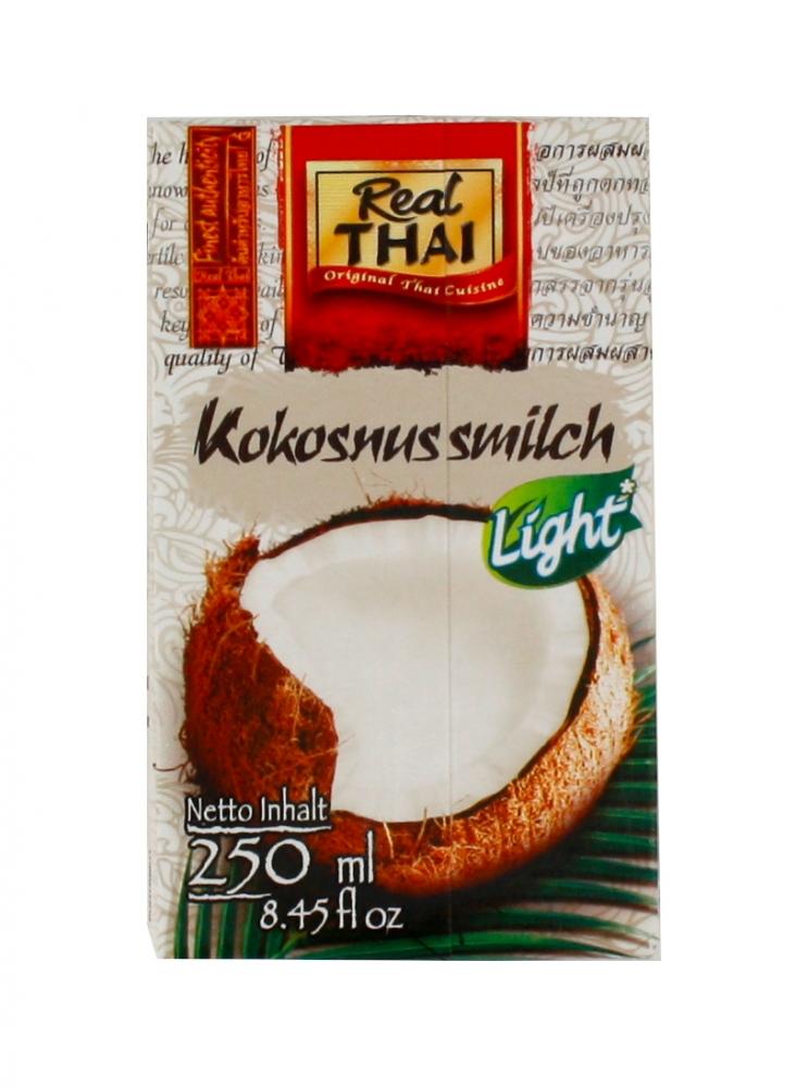 Levně Real Thai Kokosové mléko LITE 250ml (bílé)