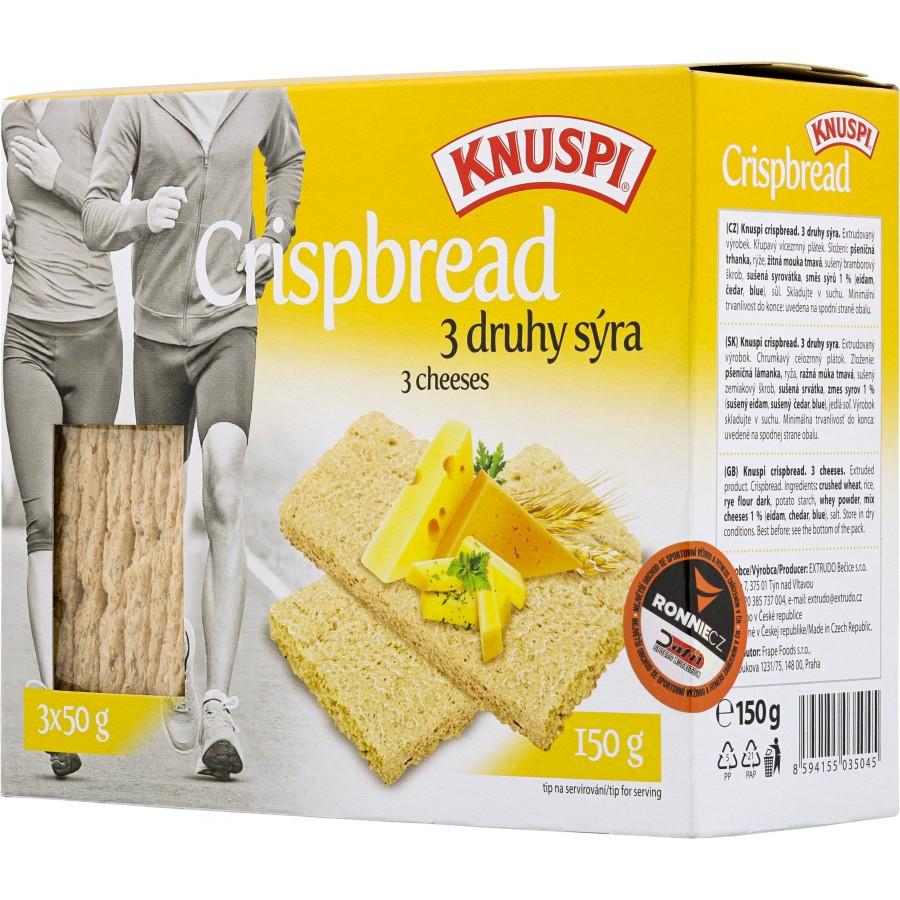 Extrudo Knuspi křehký chléb 3 druhy sýra 150 g