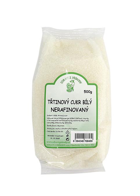 Zdraví z přírody Cukr třtinový bílý nerafinovaný 500g