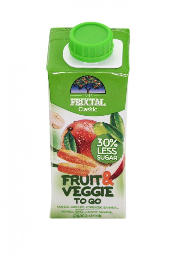 Levně Fructal fruit & veggie mango, mrkev 0,2l