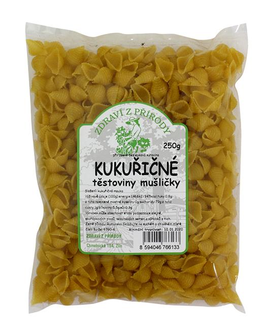 Levně Zdraví z přírody Kukuřičné těstoviny mušličky 250g
