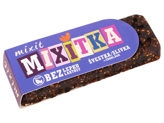 MIXIT Tyčinka Mixitka bez lepku Švestka + čokoláda 50G