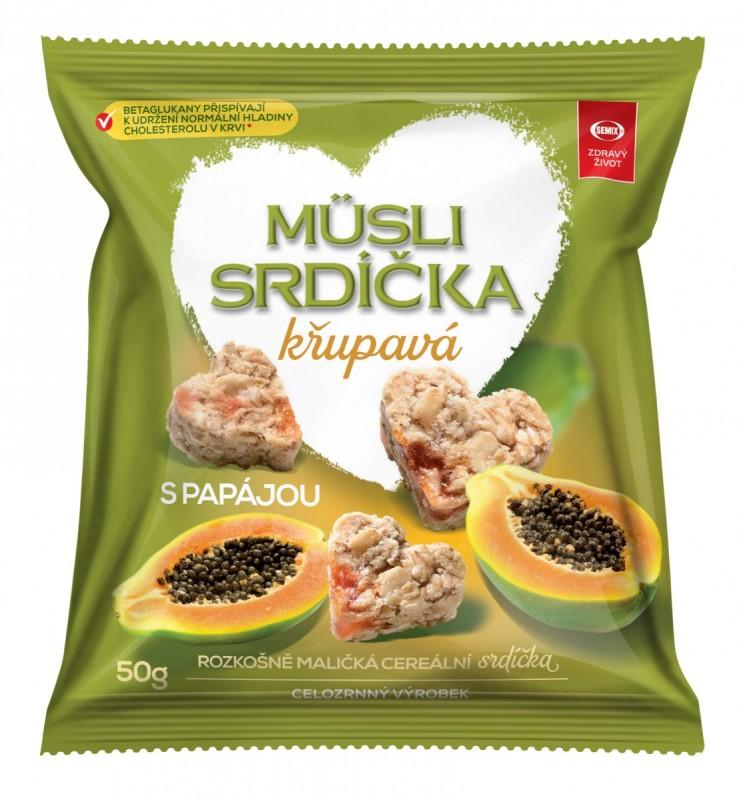 Semix Musli srdíčka křup. papája-sáček 50g