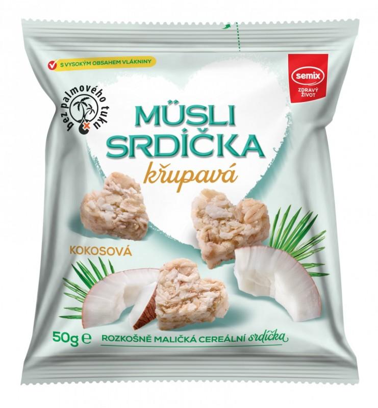 Semix Musli křupavá srdíčka-KOKOS 35% sáček 50g