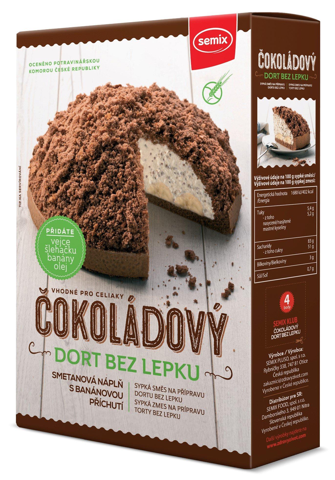 Semix Čokoládový dort bez lepku 430g
