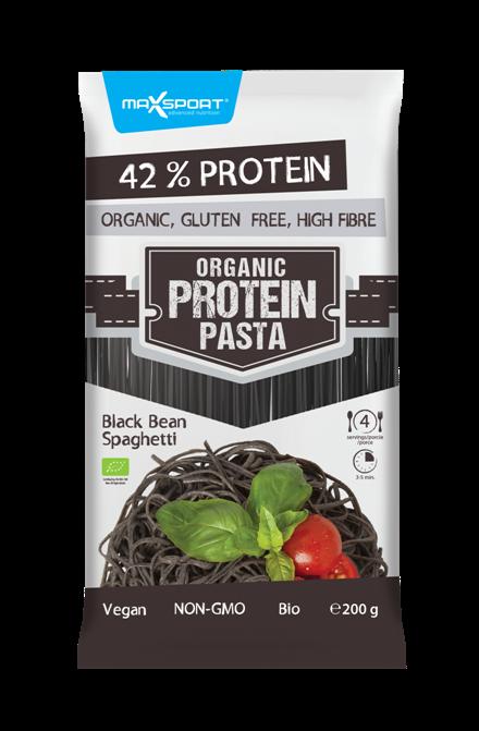 MaxSport Protein pasta špagety - tmavé fazole 200g