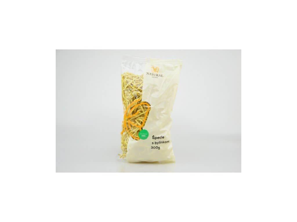 Těstoviny špecle s bylinkami Natural 300g