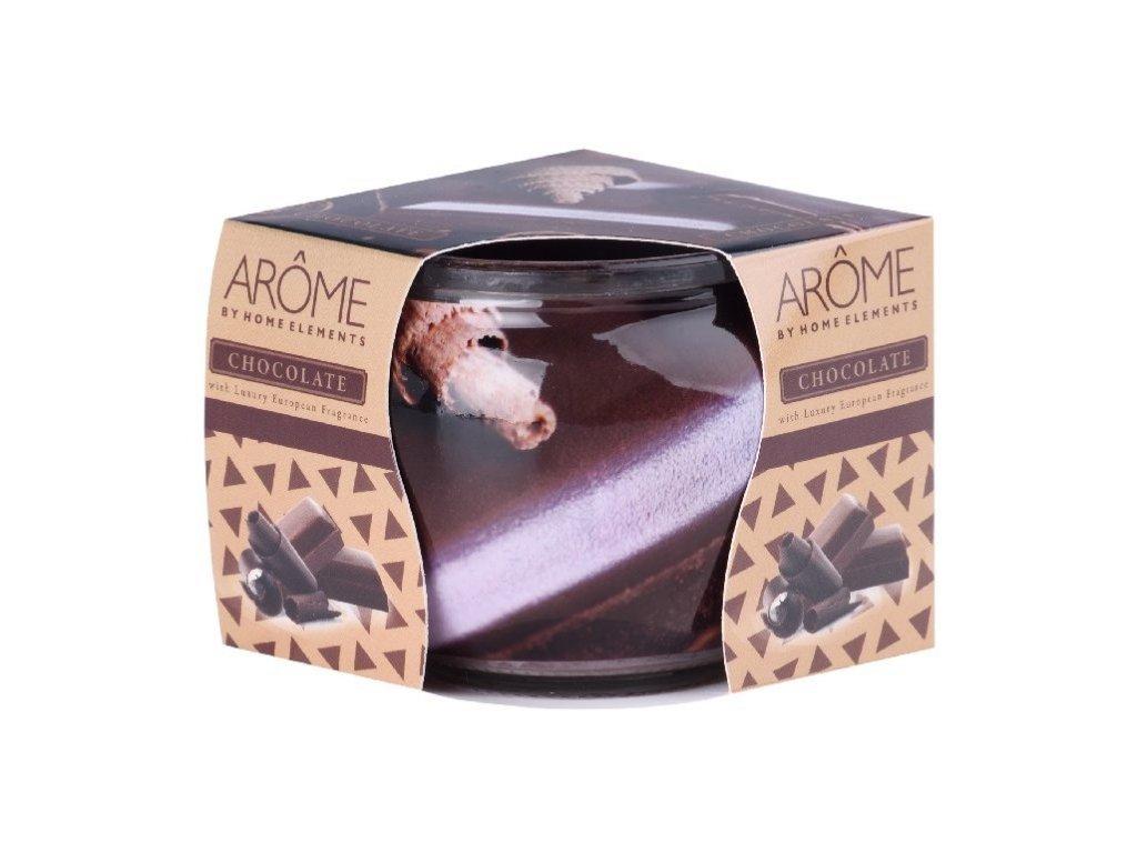 arome svíčka ve skle chocolate