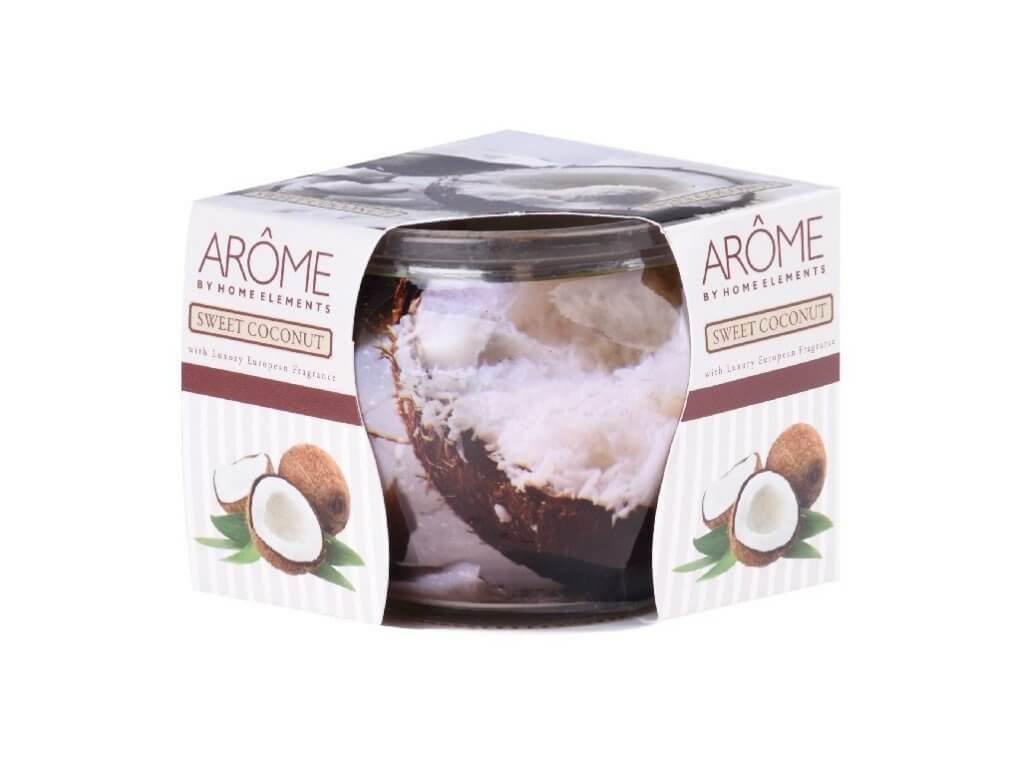 arome svíčka ve skle coconut