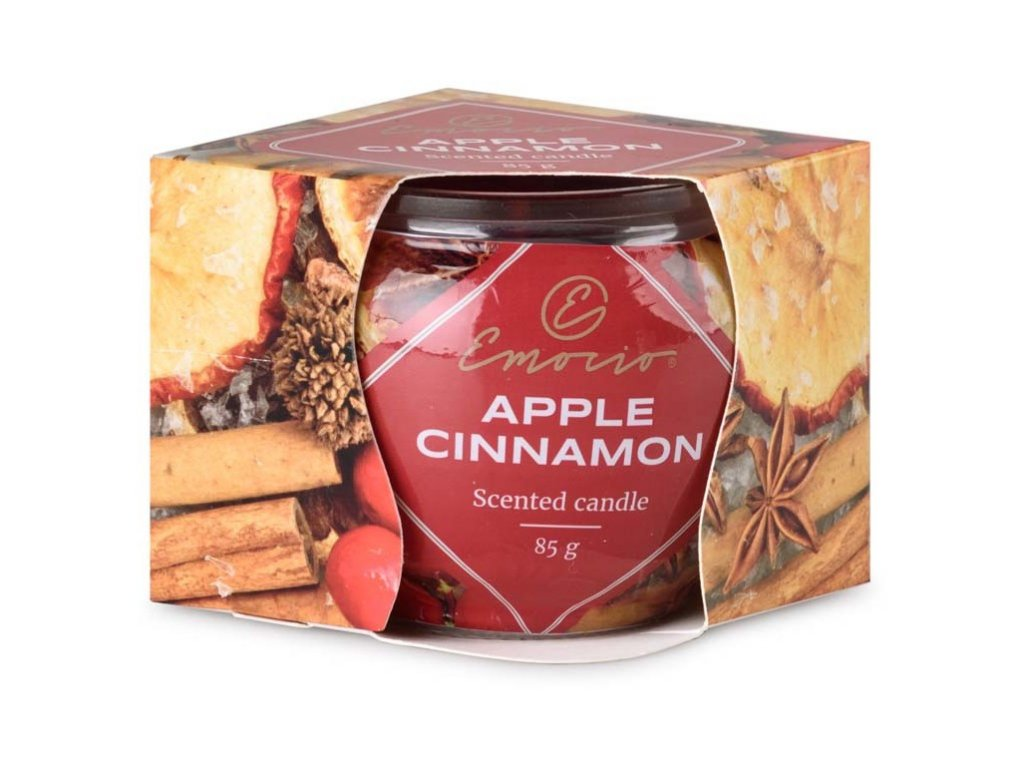 emocio svička ve skle apple cinnamon