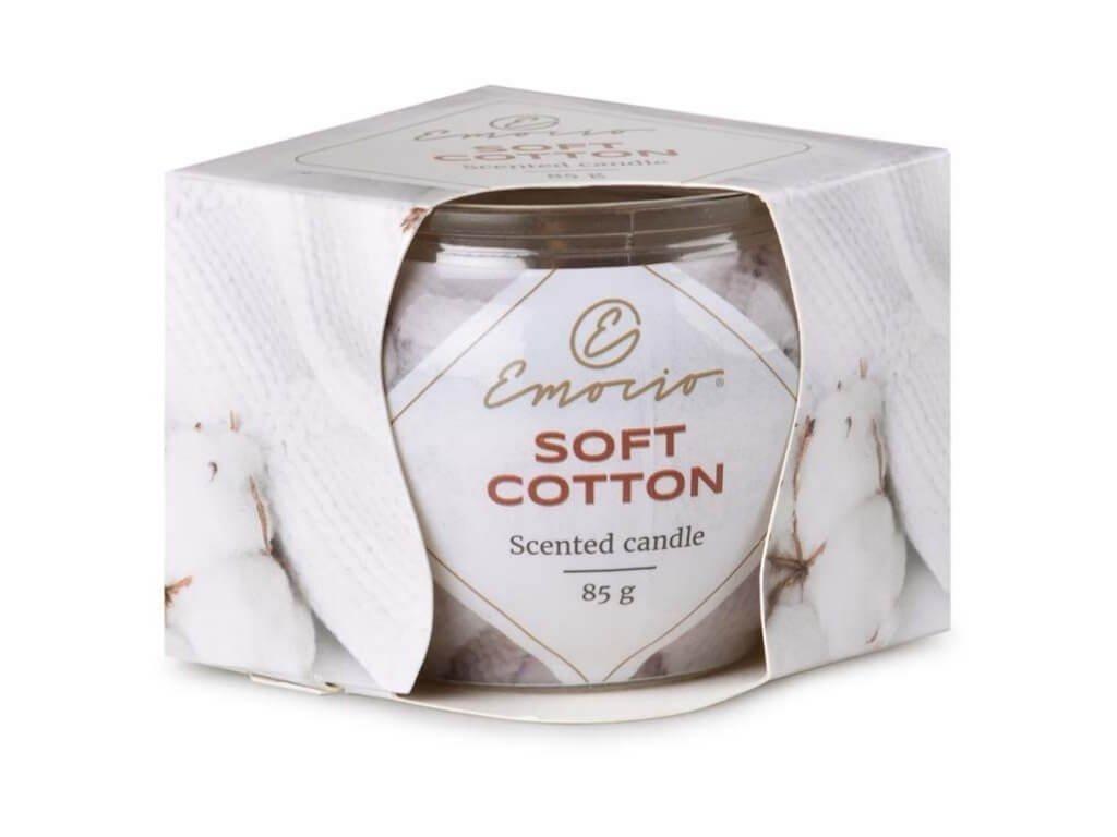emocio svička ve skle soft cotton