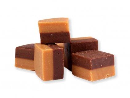 karamelový fondán vanilka a čokoláda